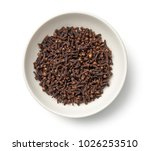 cloves in bowl isolated on... | Shutterstock . vector #1026253510