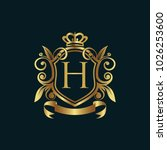 luxury logo  vector logo... | Shutterstock .eps vector #1026253600