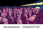 illustration of crowded metro ... | Shutterstock .eps vector #1026253726