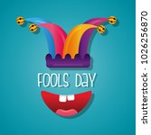 fools day card celebration | Shutterstock .eps vector #1026256870