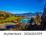 Hurunui River In Southern Alps...