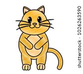 grated adorable and cute cat... | Shutterstock .eps vector #1026263590