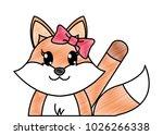 grated adorable female fox... | Shutterstock .eps vector #1026266338