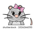 grated adorable female mouse... | Shutterstock .eps vector #1026266350