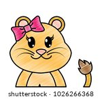 grated adorable female lion... | Shutterstock .eps vector #1026266368