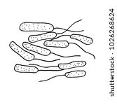 vector black sketch bacteria... | Shutterstock .eps vector #1026268624