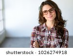 fun quirky headshot of...   Shutterstock . vector #1026274918