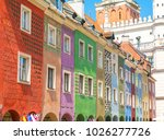 colorful buildings in old town... | Shutterstock . vector #1026277726