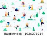 people in the park vector flat... | Shutterstock .eps vector #1026279214