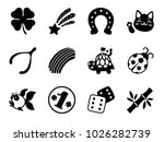 Stock vector lucky charm icons 1026282739