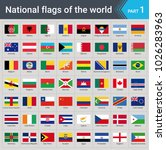 flags of the world. vector... | Shutterstock .eps vector #1026283963