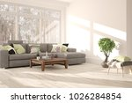 white room with sofa and winter ...   Shutterstock . vector #1026284854