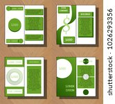 set of flyer design template  ... | Shutterstock .eps vector #1026293356