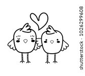 line chicks couple together and ... | Shutterstock .eps vector #1026299608