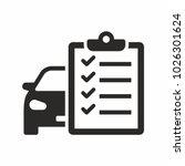 car maintenance list icon | Shutterstock .eps vector #1026301624
