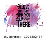 inspirational quote with...   Shutterstock . vector #1026302494