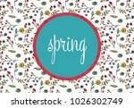 spring pattern in circle ... | Shutterstock .eps vector #1026302749