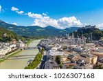 panoramic aerial view of... | Shutterstock . vector #1026307168