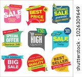 modern sale stickers and tags... | Shutterstock .eps vector #1026309649