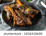 homemade braised lamb shanks... | Shutterstock . vector #1026310630