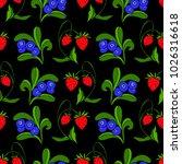 set of berries vector...   Shutterstock .eps vector #1026316618