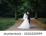 wedding in the castle. stylish... | Shutterstock . vector #1026320599