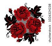 vintage ukrainian red and black ... | Shutterstock .eps vector #1026324238