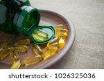 yellow evening primrose seed... | Shutterstock . vector #1026325036