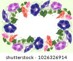 frame from bouquet climbing... | Shutterstock .eps vector #1026326914
