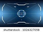 sci fi concept of future vector ... | Shutterstock .eps vector #1026327058