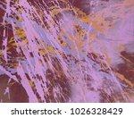 abstract painting. ink handmade ... | Shutterstock . vector #1026328429
