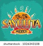 sayulita mexico   vector icon ... | Shutterstock .eps vector #1026343108