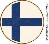 vintage metal sign   round... | Shutterstock .eps vector #1026347950