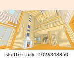 the author's architectural... | Shutterstock .eps vector #1026348850