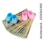 vertical shot of a pair of pink ... | Shutterstock . vector #1026361960