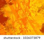 abstract painting. ink handmade ...   Shutterstock . vector #1026373879