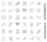 way of life icons set. outline... | Shutterstock .eps vector #1026380074
