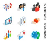 analytical approach icons set.... | Shutterstock .eps vector #1026380173