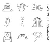 scientific investigation icons... | Shutterstock .eps vector #1026380248