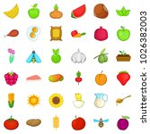 comestible icons set. cartoon... | Shutterstock .eps vector #1026382003