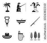 hobby for relaxation icons set. ...   Shutterstock .eps vector #1026382210