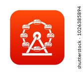 giant ferris wheel icon digital ... | Shutterstock .eps vector #1026385894