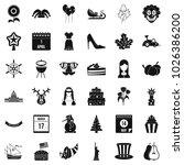 national folklore icons set.... | Shutterstock .eps vector #1026386200