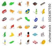 citizen icons set. isometric... | Shutterstock .eps vector #1026387550