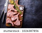 meat raw fresh mutton on the... | Shutterstock . vector #1026387856