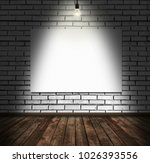 blank display canvas on old... | Shutterstock . vector #1026393556