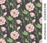 seamless spring pattern with... | Shutterstock .eps vector #1026401548