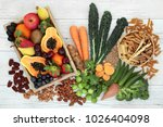 health food high in fibre with... | Shutterstock . vector #1026404098