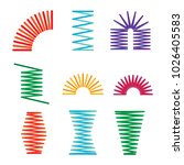 set of metal springs colored... | Shutterstock .eps vector #1026405583