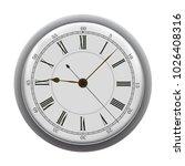 old wall clock. vector... | Shutterstock .eps vector #1026408316